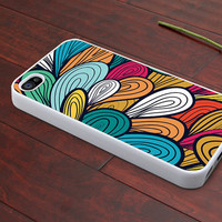 beautiful colors graphic Hard case Rubber case iphone 4 case iphone 4s case New Iphone 5 case