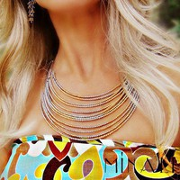 Minali ® - Bohemian Chic Jewelry / Infinity Necklace and Earrings by Minali