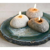 VivaTerra - VivaTerra - Beeswax Rock Candles