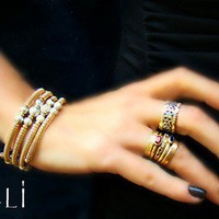 Minali ® - Bohemian Chic Jewelry / Marrakech Gold Bracelet by Minali