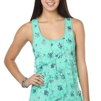 racer back tank top with ditsy ruffle tier front - 1000043028 - debshops.com
