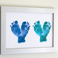 Custom Baby Feet Heart Print - by Pitter.Patter.Print