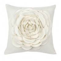 Blissliving Home Jenna Pillow in Ivory - BL63999 - Pillows, Blankets &amp; Slipcovers - Decor