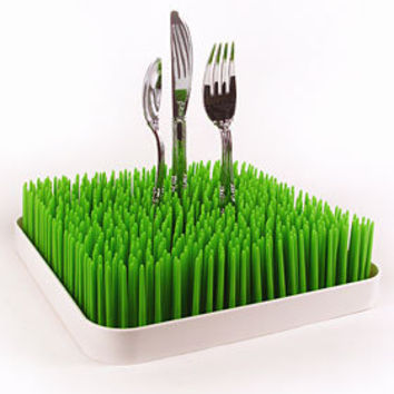 Green Grass Dish Rack or Letter Holder