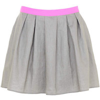 Grey full mini skirt - skirts - sale - women