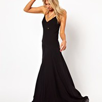 ASOS Maxi Dress With Seam Detail at asos.com