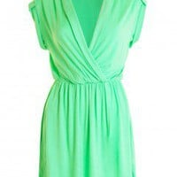 LOVE Green Jersey Wrap Dress - Love