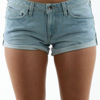 Volcom On The Road 3.5' Denim Short in Salt Wash Indigo
