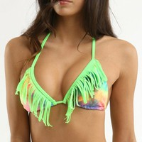 Kandy Wrappers Tie Dye Fringe Top - PacSun.com