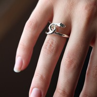 Free People Silver Snake Ring