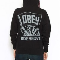 Obey, Rise Above Zip-Up Hoodie  ::...