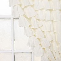 UrbanOutfitters.com &gt; Waterfall Ruffle Curtain