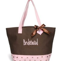 Chocolate Bridal Party Tote Bag