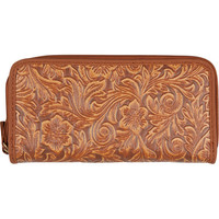 Flower Leaf Embossed Wallet