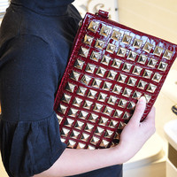 Multi-function Rivet Clutch Bag/Satchel