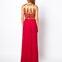 Virgos Lounge Kelly Embellished Maxi Dress with Open Back at asos.com