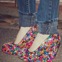 Haus of Price Endeavor  jewel encrusted wedge