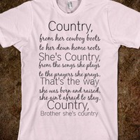Shes country - Sewinsweety - Skreened T-shirts, Organic Shirts, Hoodies, Kids Tees, Baby One-Pieces and Tote Bags