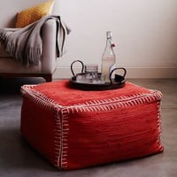 Recycled Rag Rug Pouf