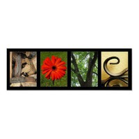 Creative Love Alphabet Photography Art Print from Zazzle.com