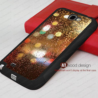Rain drop black  rubber case Samsung Galaxy Note 2 II N7100 case Samsung Silicon cases customizable