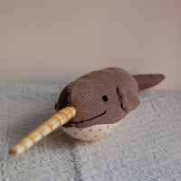 Gray Polka Dot NarwhalSALE by sian on Etsy