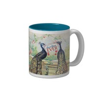 Vintage Peacocks - Best Mom Ever Coffee Mug from Zazzle.com