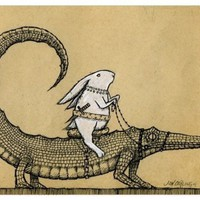 Led By a Creature White as Snow by joncarling on Etsy