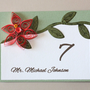 Quilled Wedding Card - Quill Flat Place Card - Quilling Seating Card - Custom