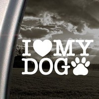 I Love My Dog Decal Car Truck Bumper Window Sticker