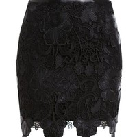 Scalloped Lace Skirt - Bardot