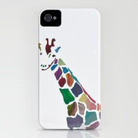 Show Your Real Spots - Giraffe iPhone Case by Chris Klemens | Society6