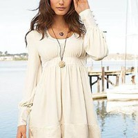 Victoria's Secret - Silk-trim Babydoll Dress