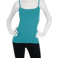 Amazon.com: Bordeaux Seamless Cami with Shelf Bra (Aqua): Clothing