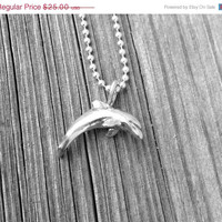 Mothers Day Sale Dolphin Necklace, Sterling Silver