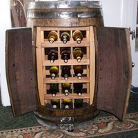 Full Barrel Wine Rack | stavedesigns - Furniture on ArtFire