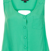 Sleeveless Cut-out Back Suntop - Tops - Clothing - Topshop USA