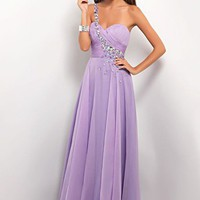 Blush Prom 9617 Lilac One Shoulder Dress