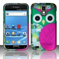 Green Pink Owl Hard Case Snap On Cover for Samsung Galaxy S2 Hercules T989, T-Mobile:Amazon:Cell Phones & Accessories