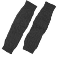 Amazon.com: Cable Knit Arm Warmer / Fingerless Gloves-One Size (Dark Slate): Clothing