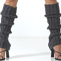 Amazon.com: Cable Knit Leg Warmers by Foot Traffic in Mocha [Apparel]: Clothing