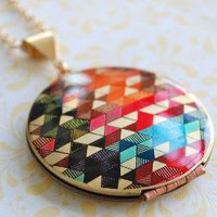 The Color Study II Locket  Vintage  Verabel FOX by verabel on Etsy