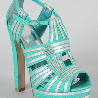 Idea Snake Cut-Out Platform Sandal