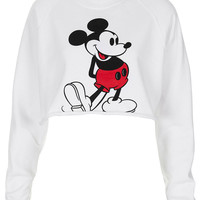 Mickey Crop Sweat - New In - Topshop USA