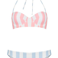 Pink Stripe Underwired Bikini - New In - Topshop USA