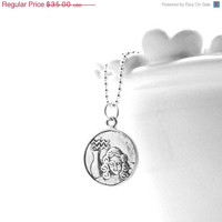 Mothers Day Sale Aquarius Necklace, Sterling Silver