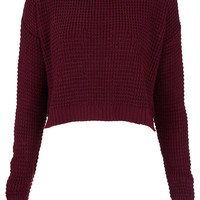 Knitted Textured Crop Jumper - Knitwear - Clothing - Topshop USA