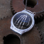 Skeleton Hand Pendant &quot;Vault&quot; Shadow Box Robotic Hand Necklace Reliquary Watch Stem Sculpture in Watch Case A Mechanical Mind Relic