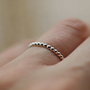 Sterling Silver Dotted Ring Stacking Jewelry Layering Band Versatile Feminine Handmade Stack Handmade Jewelry