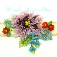 Beadwoven Floral Choker - OOAK | BonniesPlace - Jewelry on ArtFire